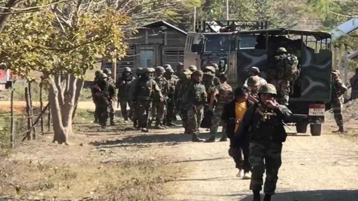 Heavy security in Manipur's Khengjang village after armed group threatened villagers to vacate houses