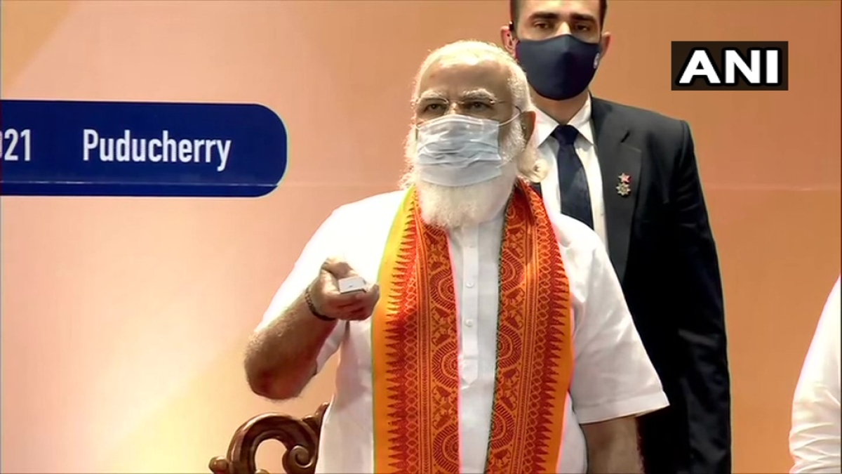 PM Modi launches various projects in Puducherry; lays foundation stone for others