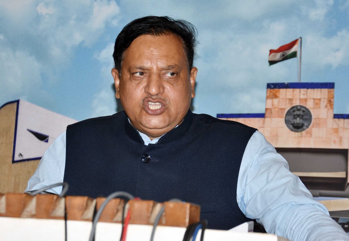 Minister for Cooperative Arvind Bhadauria interacts with media in Vidhan Sabha on Thursday .