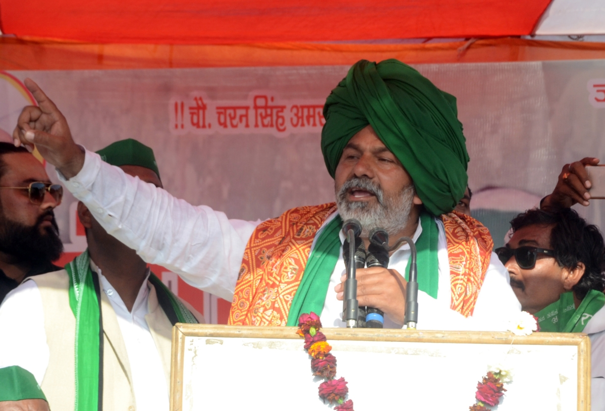 Farmers' Protest: BKU leader Rakesh Tikait calls for 'Hal Kranti', Parliament gherao