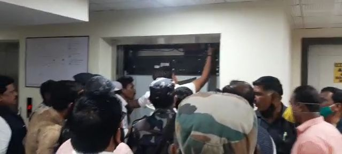 Lift collapsed at DNS hospital