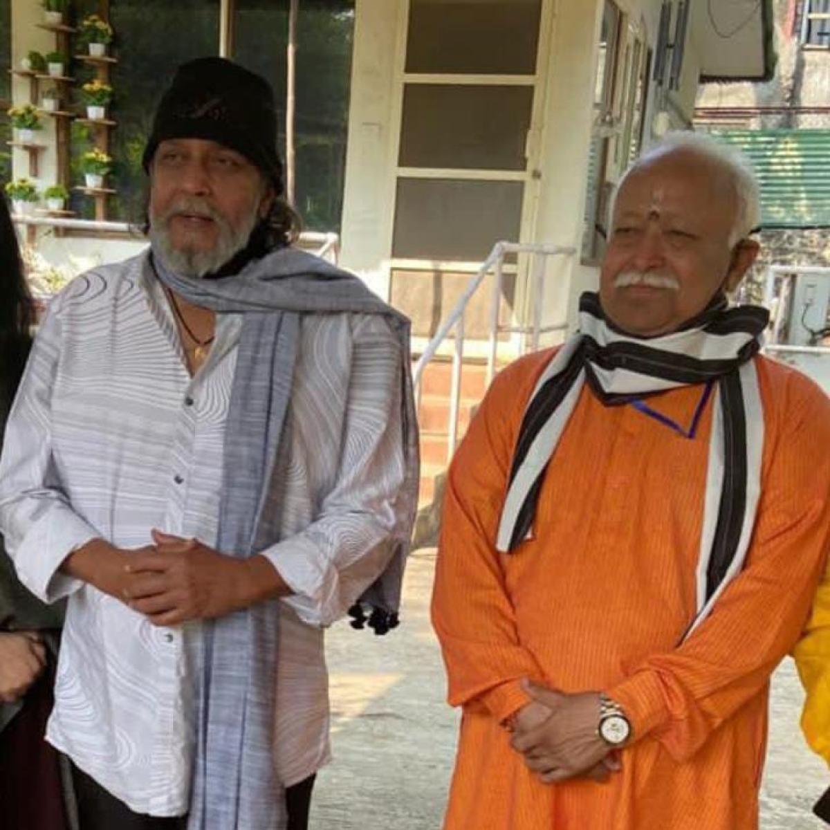 Ahead of West Bengal assembly polls, Mithun Chakraborty hosts RSS chief Mohan Bhagwat at his Mumbai residence