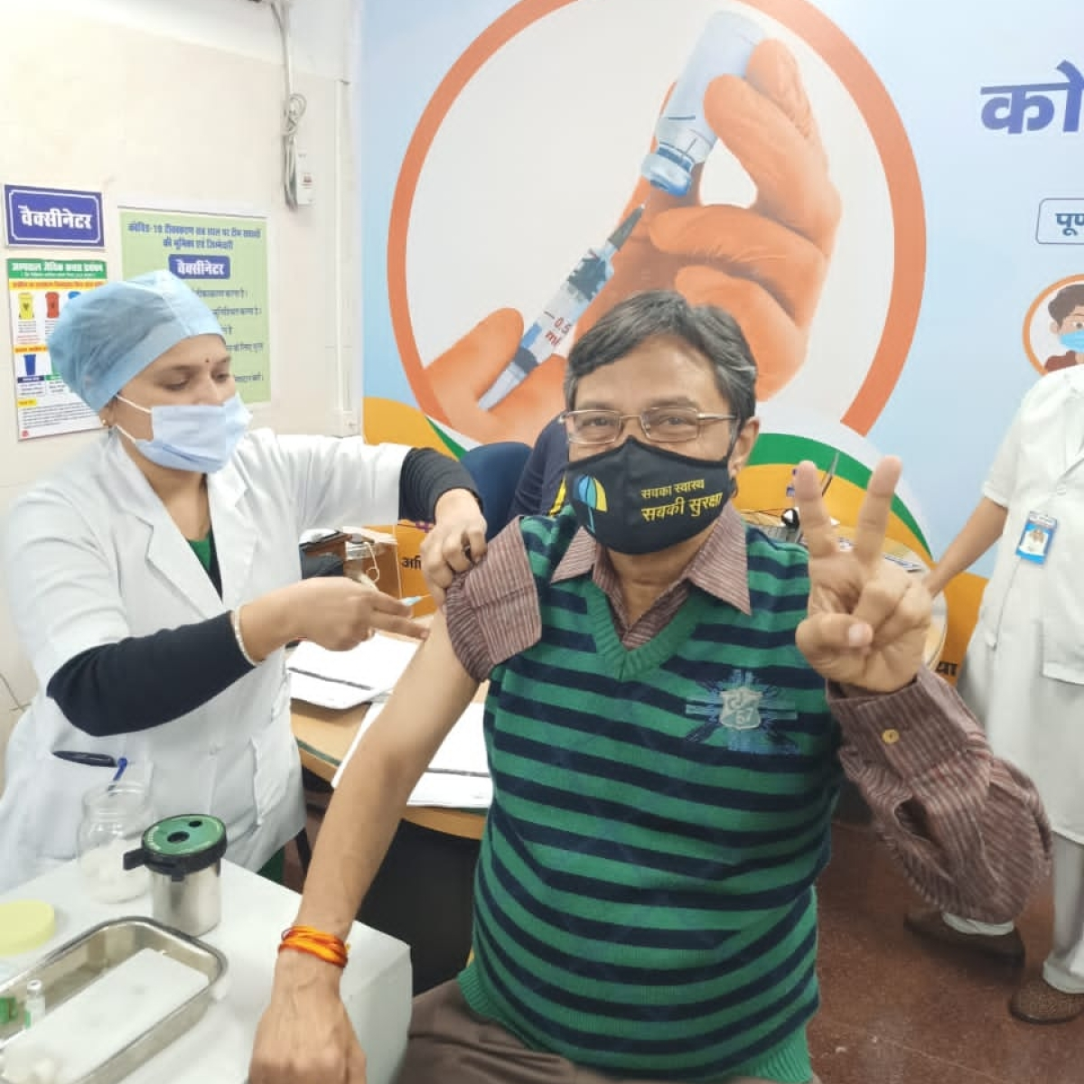 Madhya Pradesh: Mop-up vaccination round for health care workers in five districts