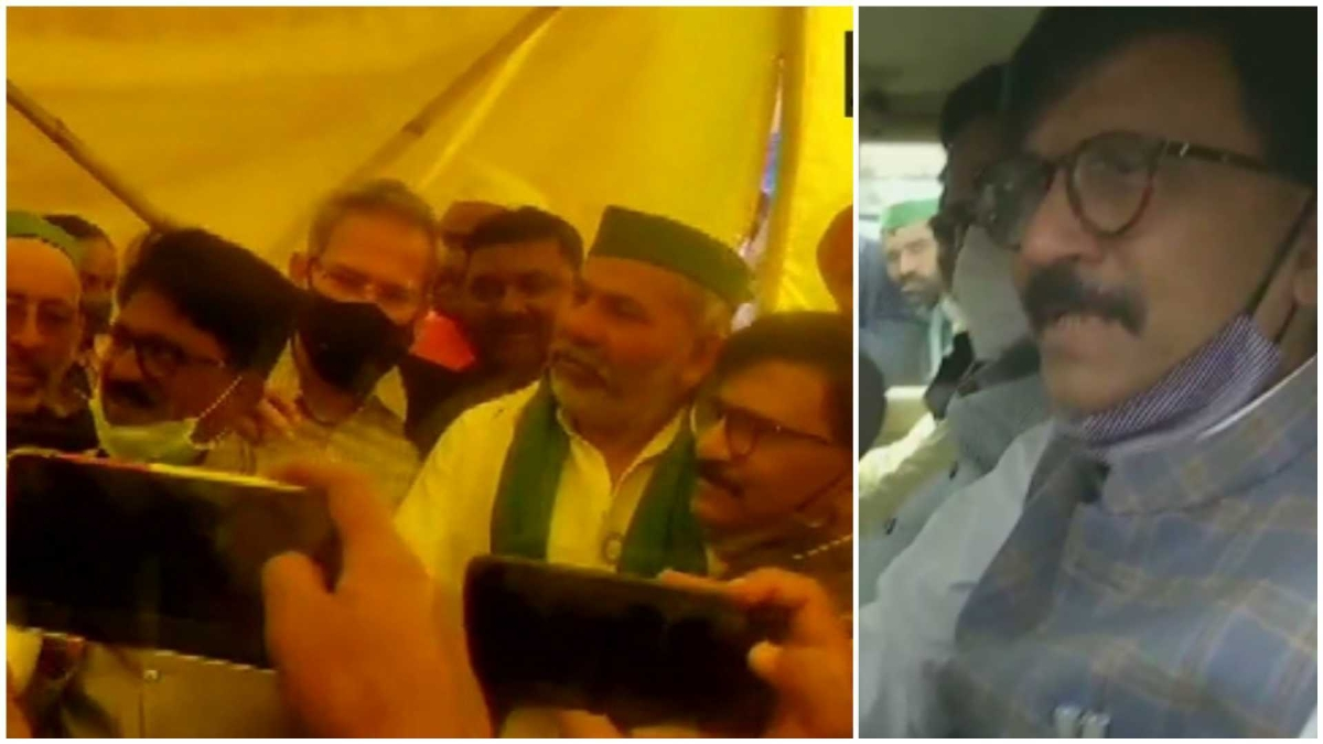 Sena leaders meet BKU's Rakesh Tikait at Ghazipur border, Sanjay Raut says govt should speak to farmers in proper way