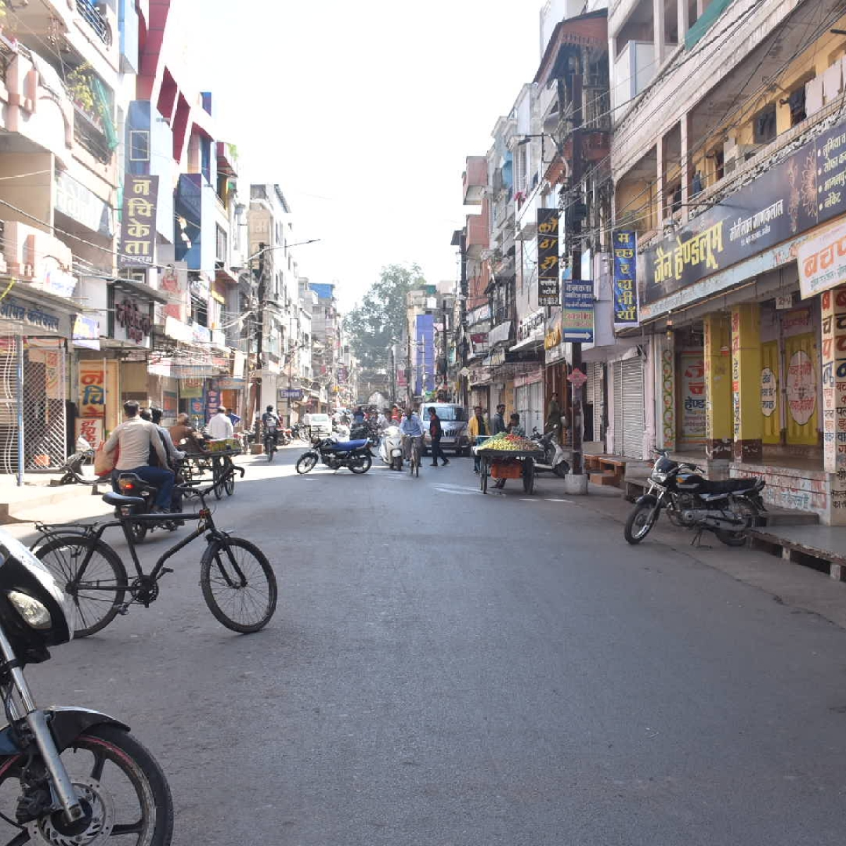 Ujjain: Bandh against GST anomalies gets mixed response