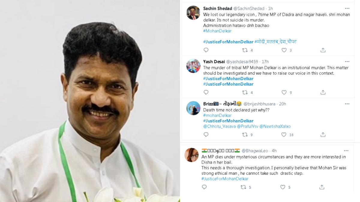 #JusticeForMohanDelkar trends on Twitter as netizens demand probe in 7-time Dadra MP's suicide case