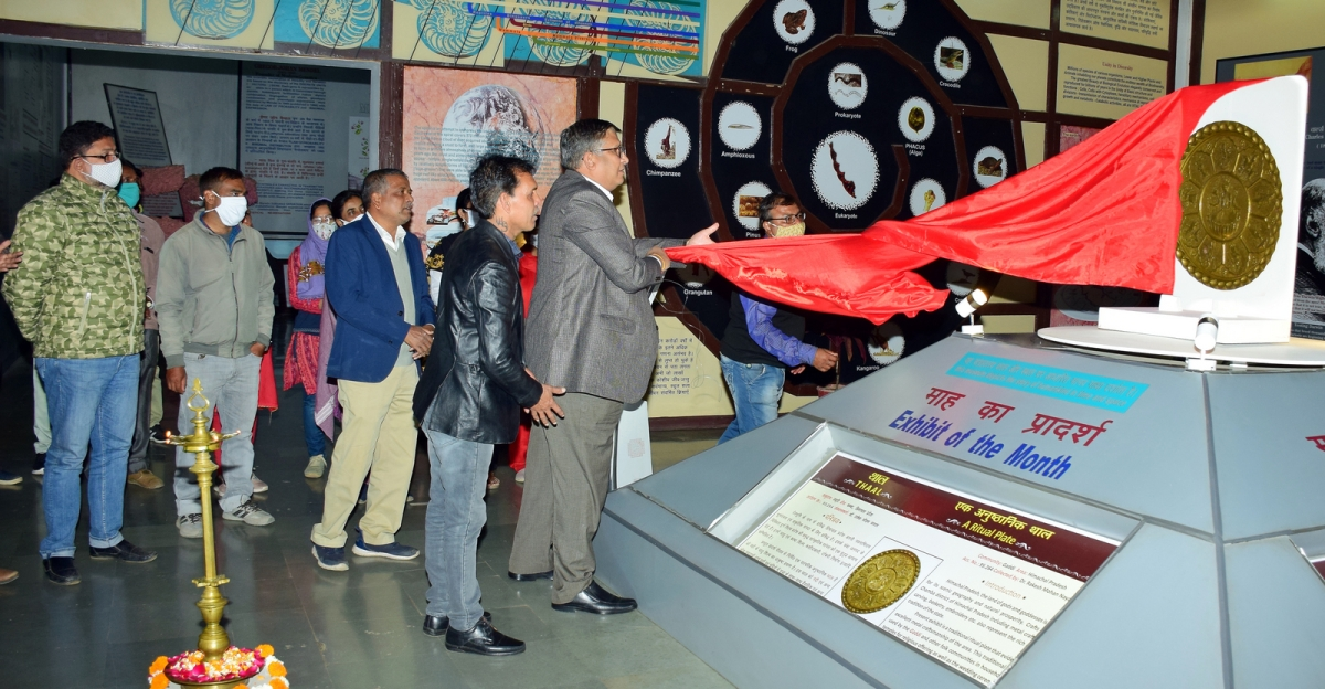 Indira Gandhi Rashtriya Manav Sangrahalaya  director PK Mishra inaugurating the exhibit on Tuesday