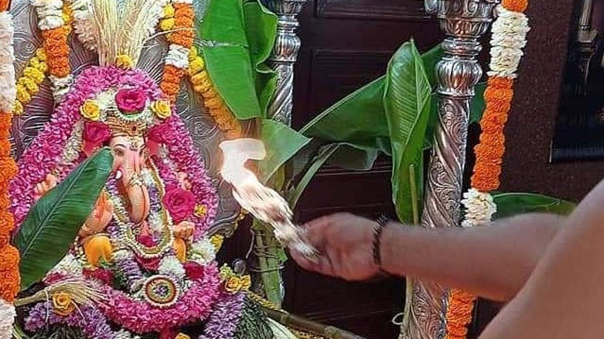 Ganesh Chaturthi celebration of Shenoy family