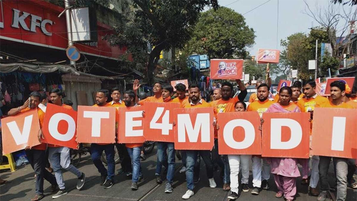 West Bengal: Jai Shri Ram echoed in North Kolkata as team NaMo campaigned for PM Modi ahead of election
