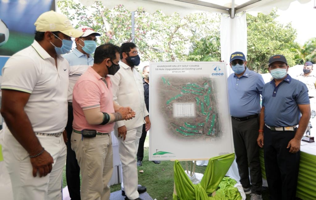 Minister Eknath Shinde inaugurated the CIDCO Masters Cup 2021, and also unveiled the golf course expansion plan from 9 holes to 18 holes