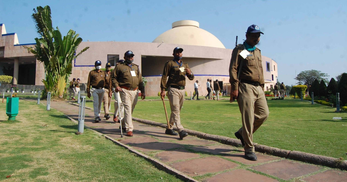 Security tightened in Vidhan Sabha for Budget Session starting from Monday.