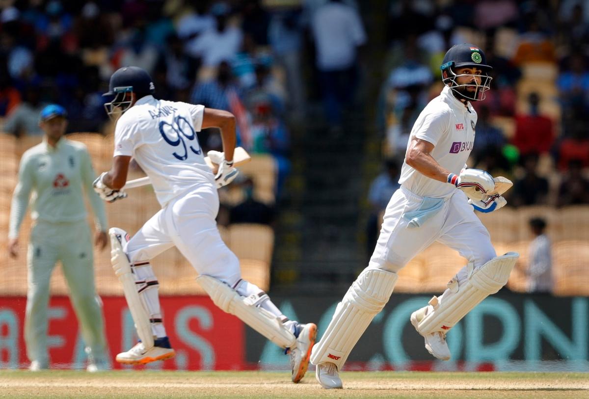IND vs ENG, 2nd Test: Ashwin's ton, Kohli's 50 take India to 286; England to chase 482-run target