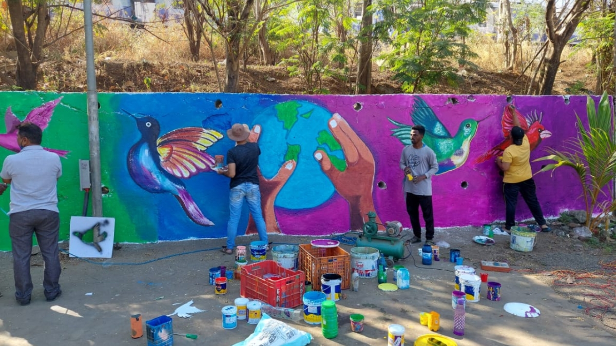Mira Bhayandar: Painting the way to 'Swachhta'! MBMC takes colourful route towards a clean and hygienic twin-city