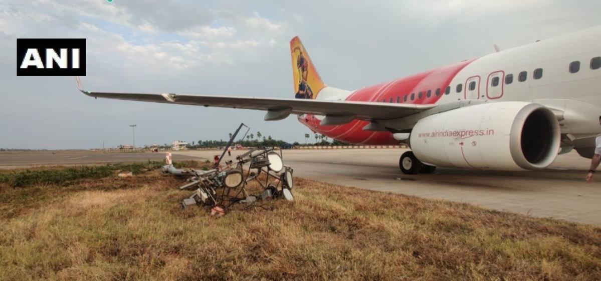 Andhra Pradesh: Air India Express flight hits an electric pole while landing; passengers safe