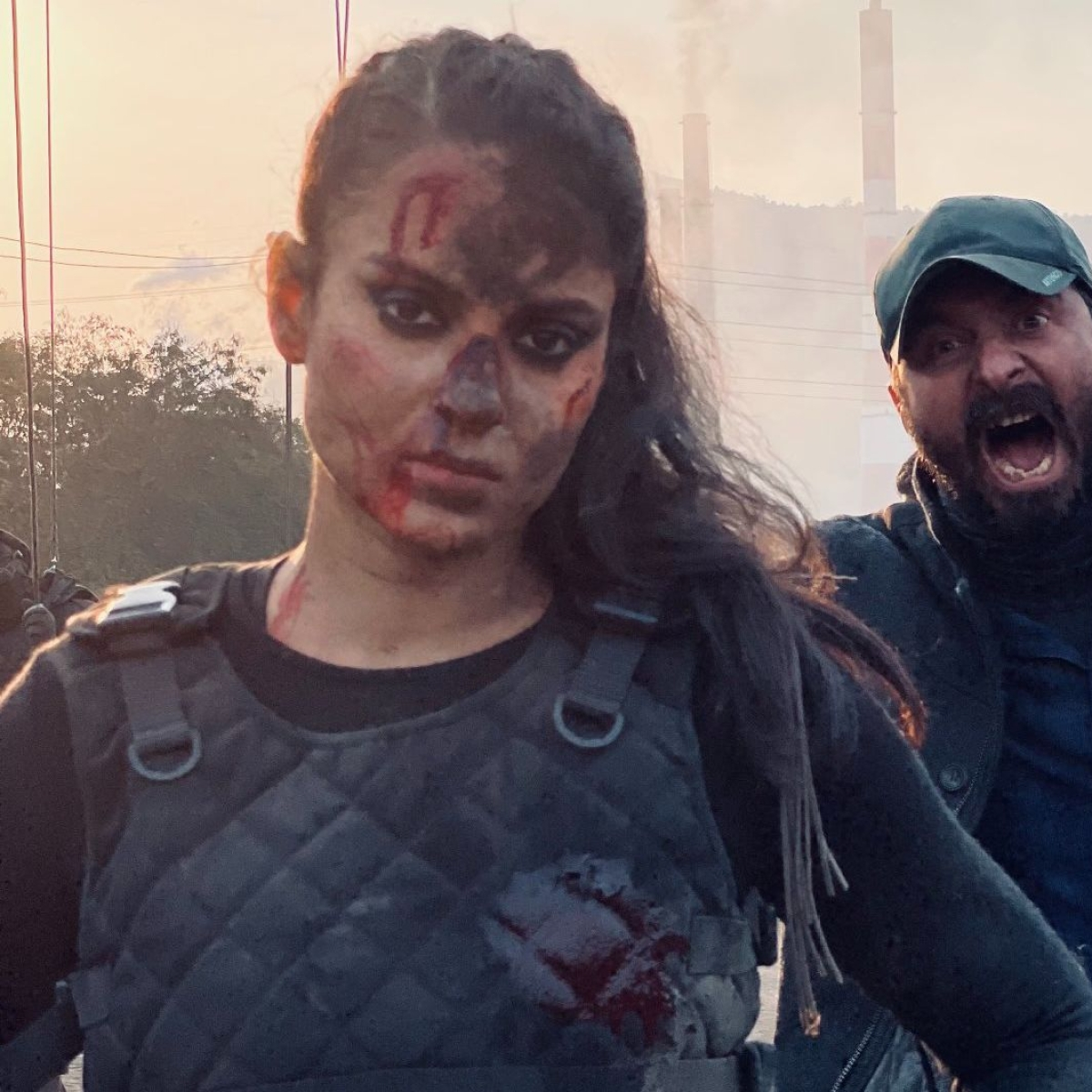 Bruised Kangana Ranaut says 'bring it on' after 14 hours of non-stop action shoot for 'Dhaakad'
