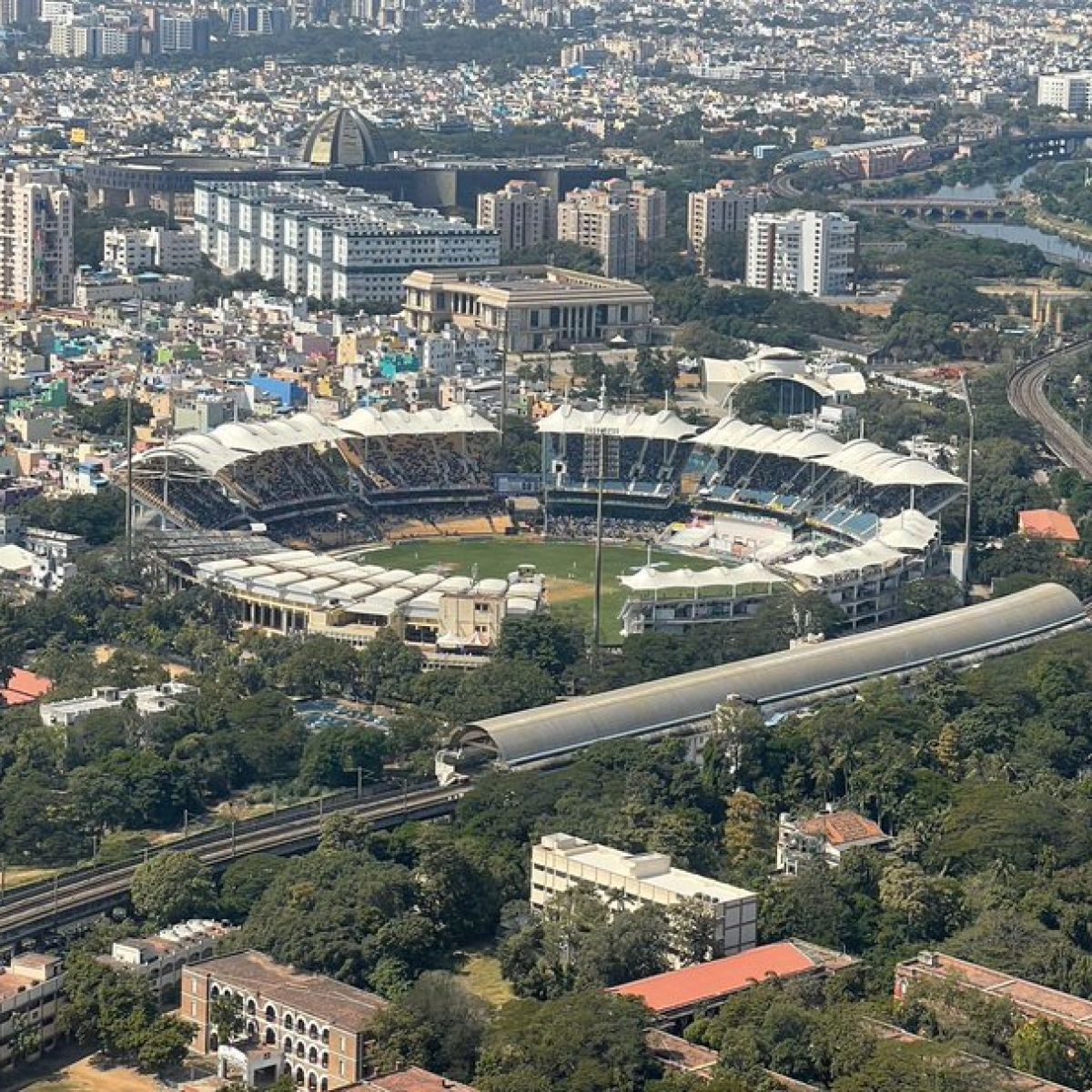 From Chennai sky, PM Modi catches a 'fleeting view' of India vs England Test