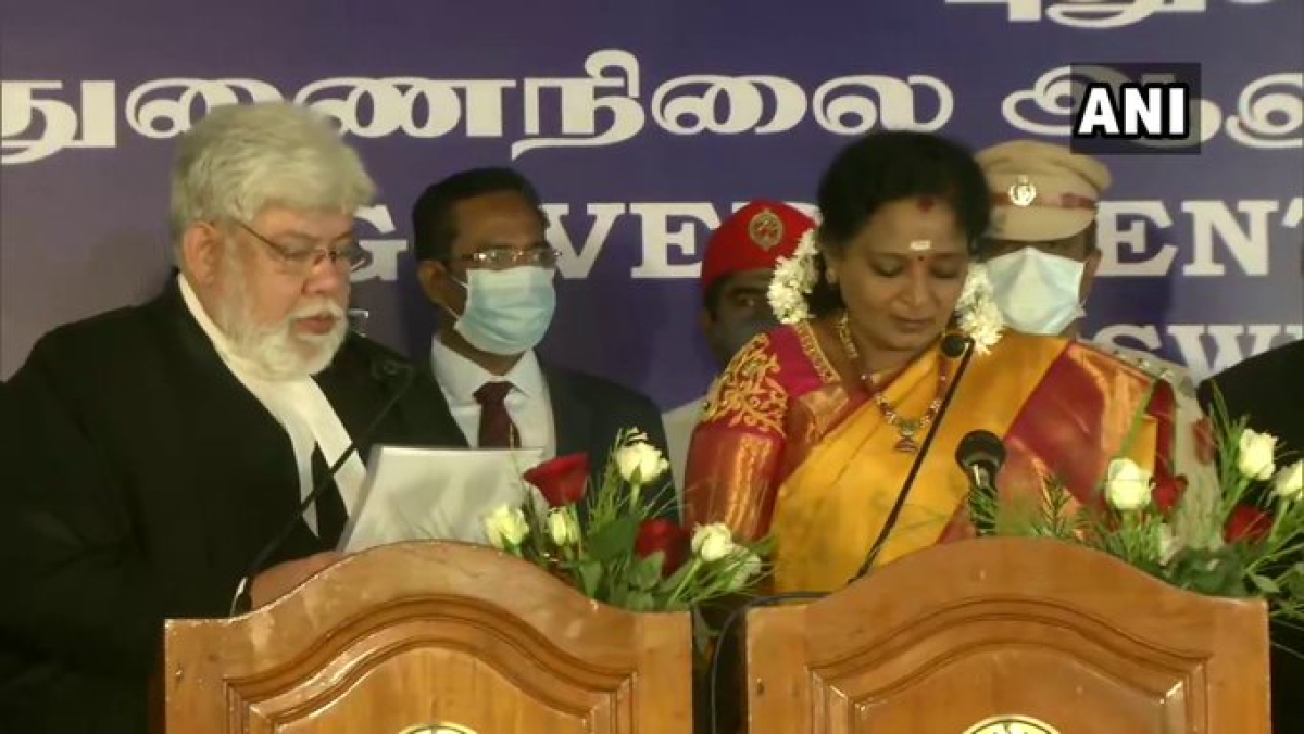 Tamilisai Soundararajan sworn in as Lieutenant Governor of Puducherry