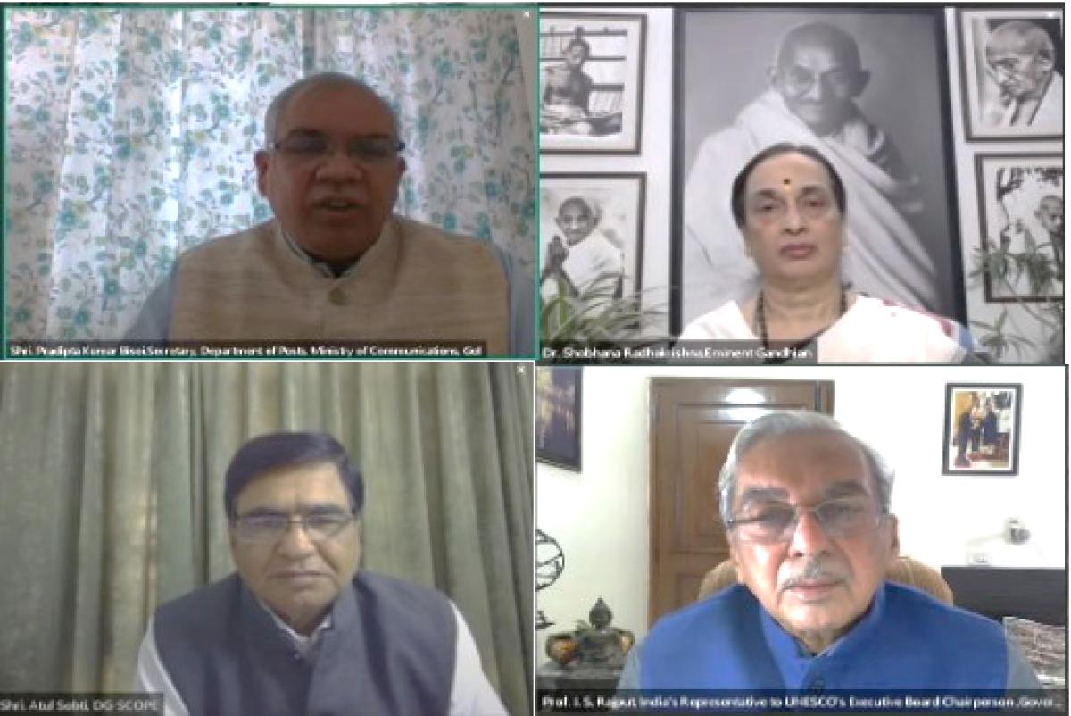 SCOPE Webinar on 'Gandhian Perspective for Value-Based Governance'