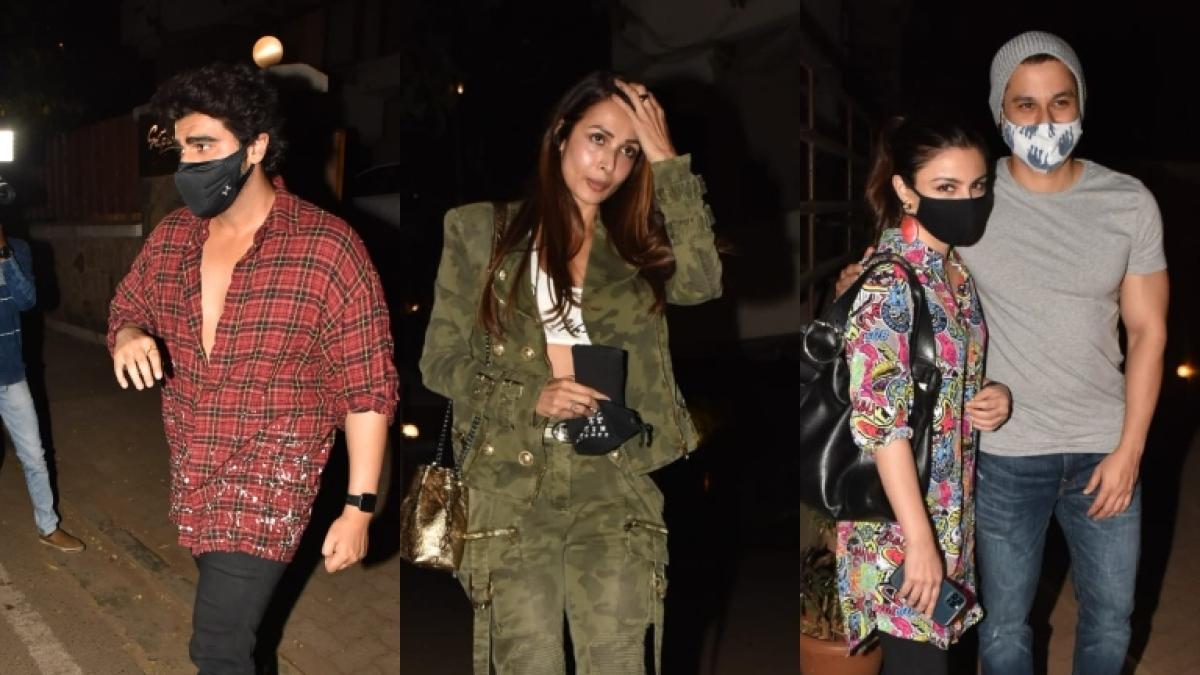 In Pics: Malaika Arora, Arjun Kapoor and Soha Ali Khan arrive at Kareena, Saif's residence to meet their newborn