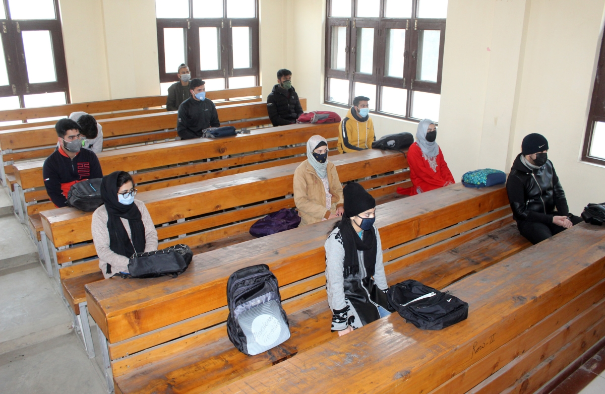 In Pics: Students back in classroom as colleges in Kashmir open after 11 months