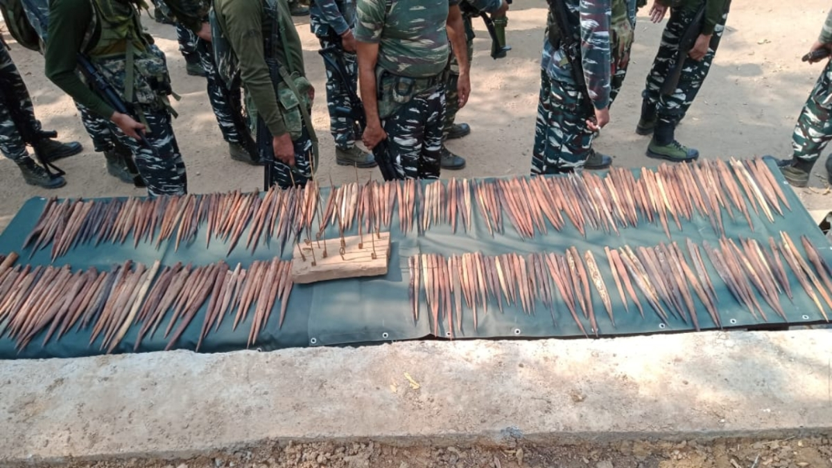 Chhattisgarh: Security forces demolish two Maoist camps in South Bastar, recover 1,214 spikes in Sukma