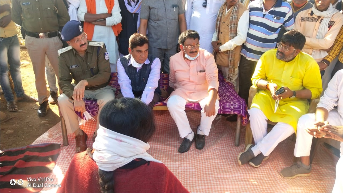 Guna: Madhya Pradesh minister meets victimised tribal woman, offers financial aid, job