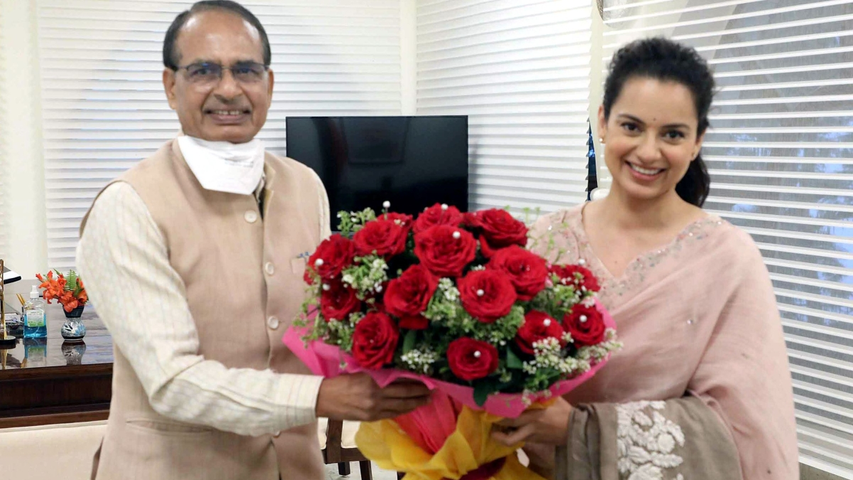 Kangana Ranaut met Madhya Pradesh Chief Minister Shivraj Singh Chouhan at his residence during the ongoing shooting of her film 'Dhaakad', in Bhopal a month back