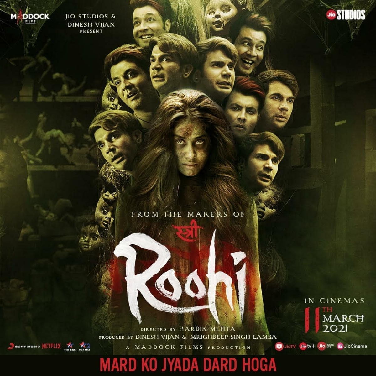 'Roohi' trailer out: Janhvi Kapoor transforms into a witch for Rajkummar Rao's spooky comedy