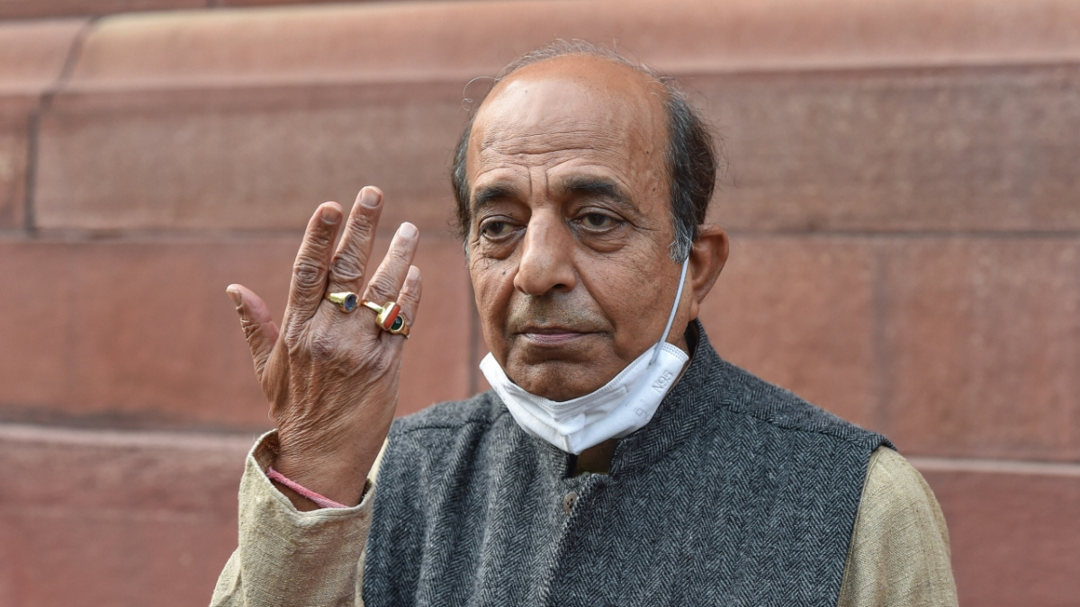 Dinesh Trivedi at Parliament during the ongoing Budget Session, in New Delhi, Friday, Feb. 12, 2021.
