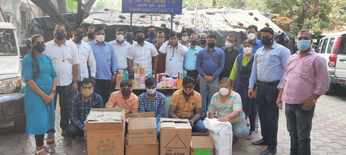 Mumbai: Five held in Malad mall for selling duplicate cosmetic products of branded companies