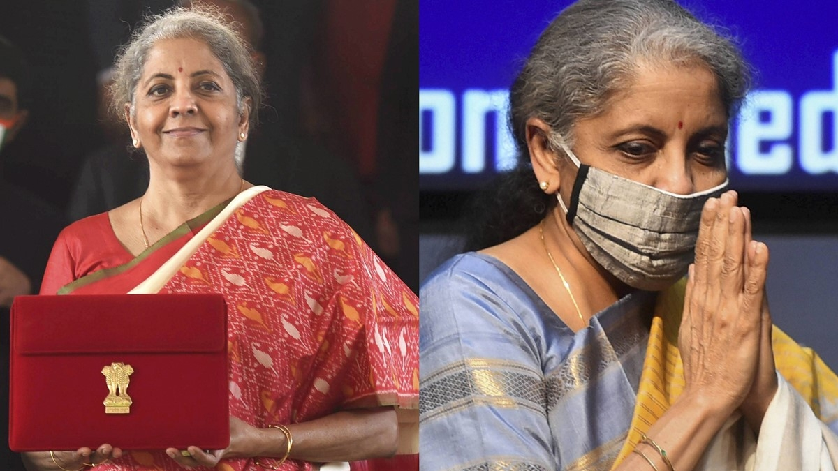 After presenting Budget 2021 in red saree, FM Nirmala Sitharaman dons yellow saree to address press conference