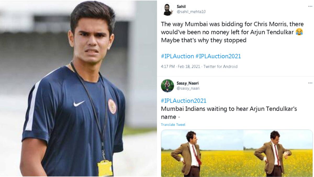 Twitter has no chill; memes trolling Arjun Tendulkar trend during the IPL 2021 auction