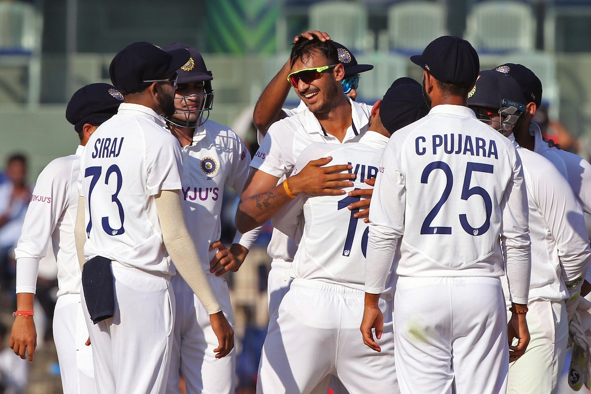 Axar Patel picked two wickets in England's second innings on Monday