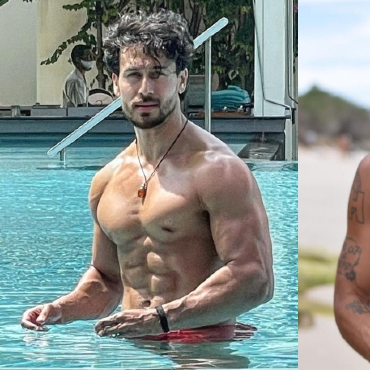 Tiger Shroff flaunts washboard abs in pool pic; check out his sister Krishna Shroff's ex-boyfriend's comment