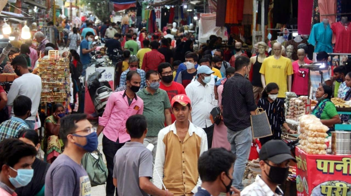 Crowded market place
