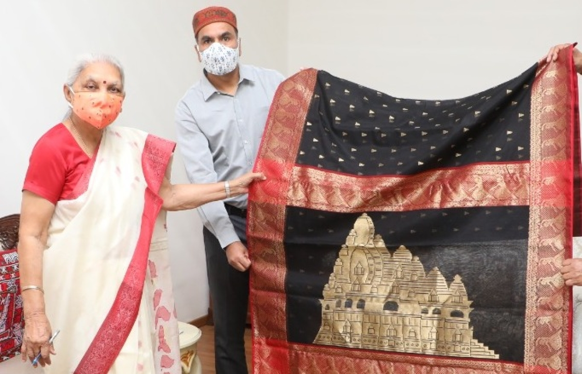 Bhopal: Governor launches sarees etched with Khajuraho temples