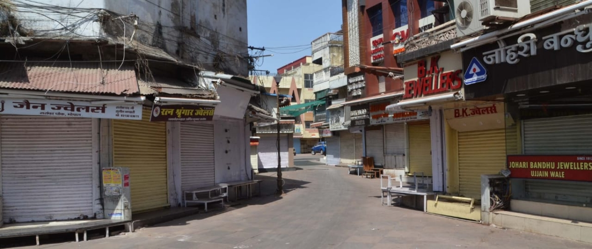 A view of Bhopal during bandh on Saturday