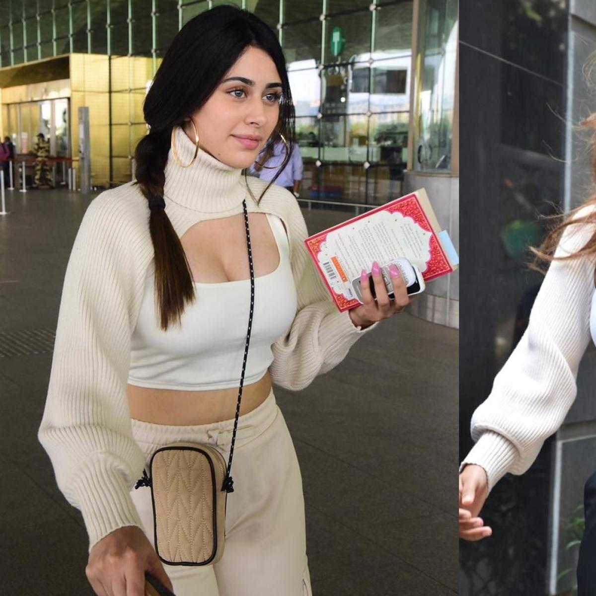 Warina Hussain Vs Disha Patani - who wore the viral high neck super crop sweater better?