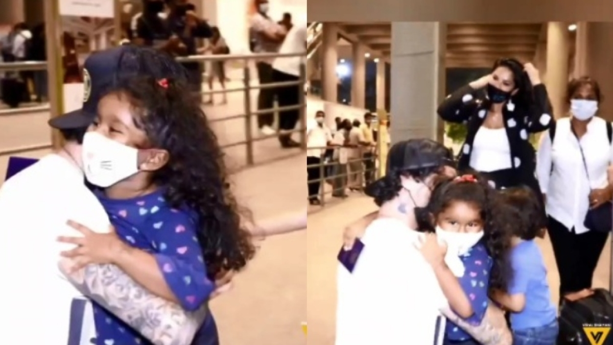 Watch: Nisha Kaur hugging father Daniel Weber at Mumbai airport is the cutest video on internet today