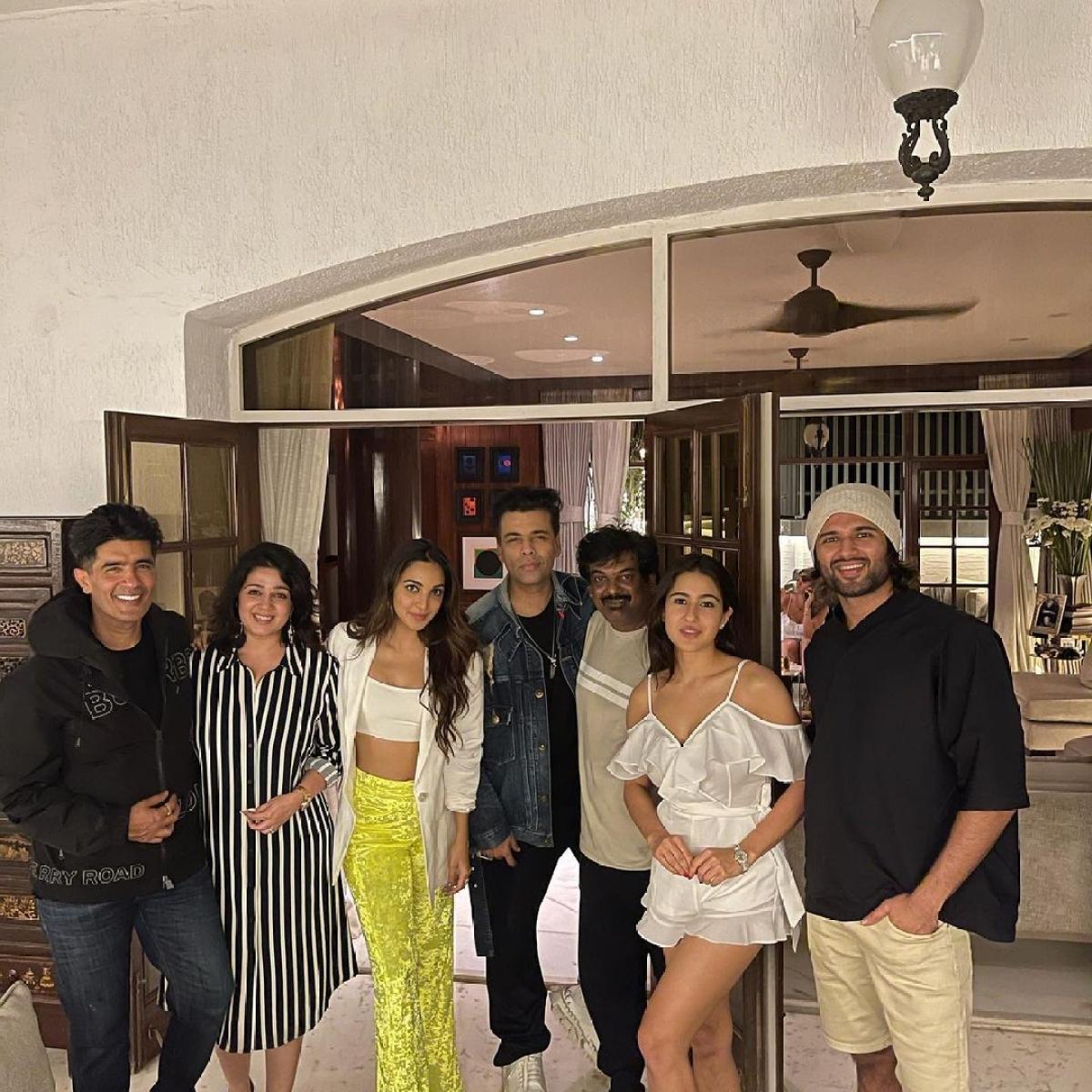 In Pics: Sara Ali Khan, Karan Johar, Vijay Deverakonda and others join Manish Malhotra for a 'perfect Saturday night'