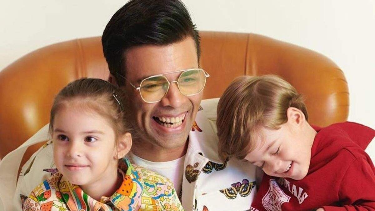 Watch: Karan Johar's twins Yash and Roohi ring in their birthday by roasting dad