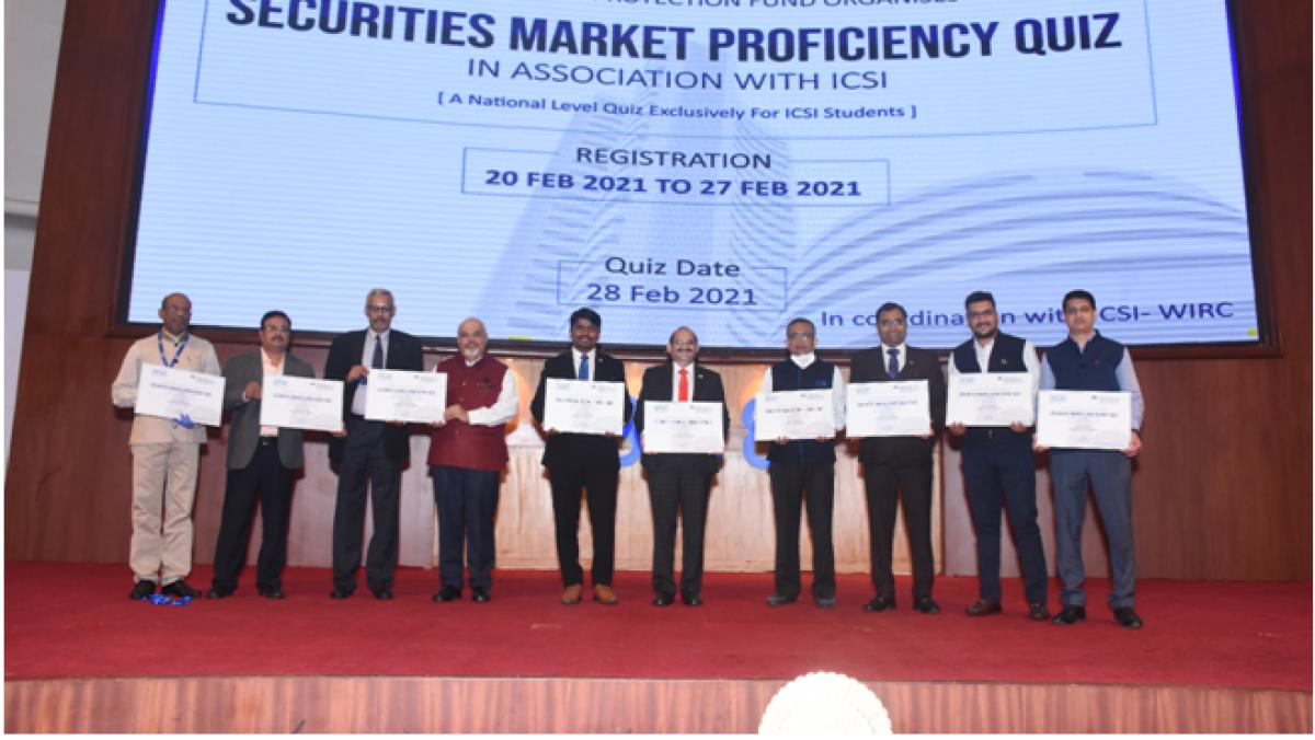 """BSE-IPF organises """"Securities Market Proficiency Quiz"""" in association with ICSI"""