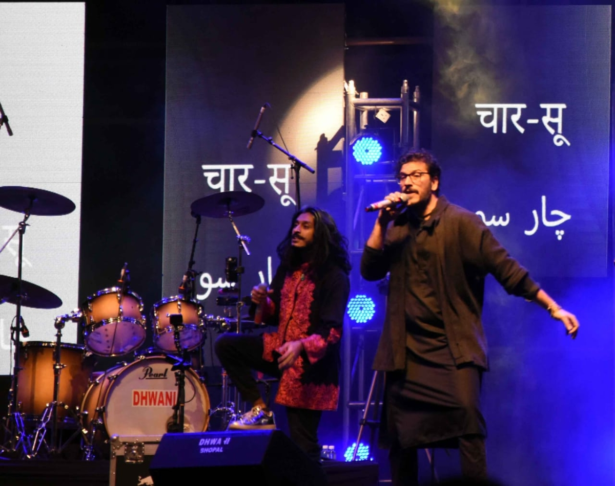 Kabir Cafe band performing in Bhopal on Sunday evening