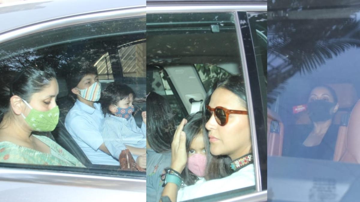 In Pics: Kareena Kapoor, Taimur Ali Khan, Gauri Khan and others attend Karan Johar's twins Yash and Roohi's birthday bash