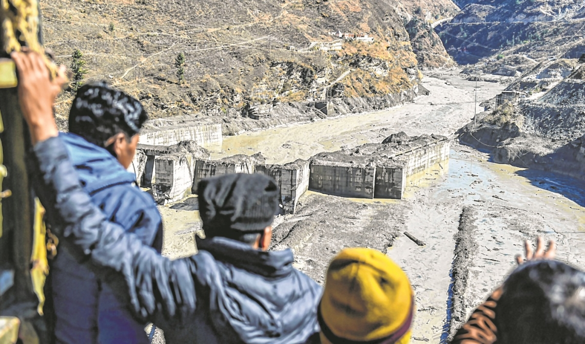 Uttarakhand: A team of ITBP, Army, SDRF, and NDRF continues a rescue and rehabilitation operation after the glacier burst, in Chamoli on Monday.