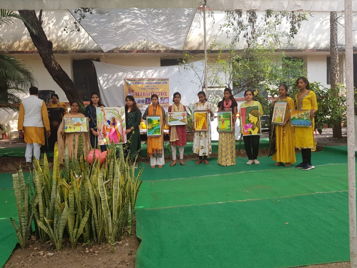 Ujjain: Colourful cultural extravaganza on spring theme held in Government Girls Post Graduate College