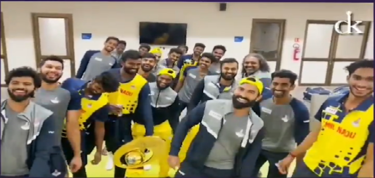 Watch: Dinesh Karthik and his boys celebrate Syed Mushtaq Ali Trophy win with a special dance