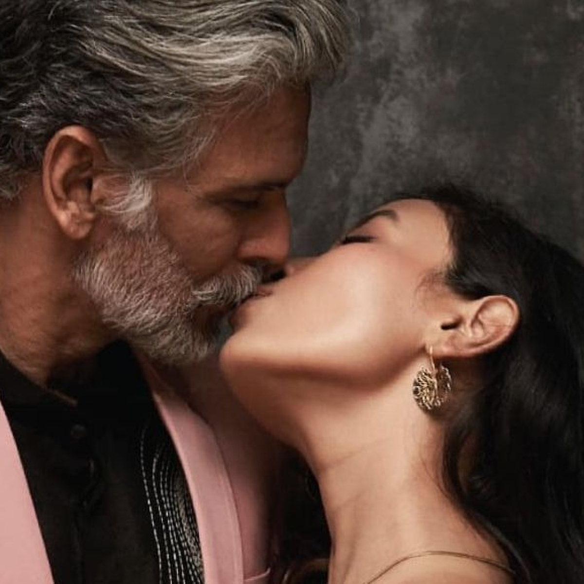 Milind Soman, Ankita Konwar indulge in a steamy lip-lock to promote vegan fashion