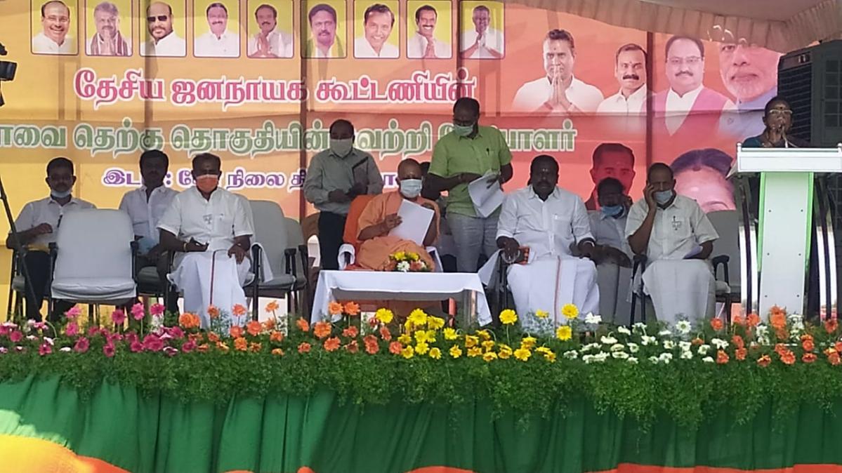 Tamil Nadu Assembly polls: Yogi Adityanath, Rajnath Singh hit campaign trail