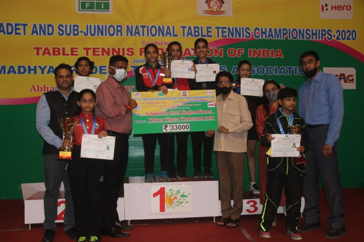 Indore: Sayali Wani of Maharashtra stands out in sub-junior title win